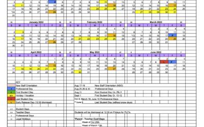School Calendar 21-22